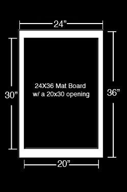 Black 20x30 poster board