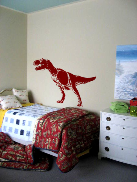 Vinyl Wall Art Decal Sticker Dinosaur T rex 60w x 34h