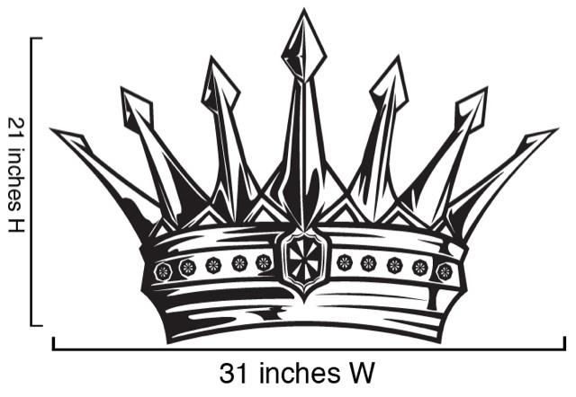 Vinyl Wall Decal Sticker Kings Crown Kids Room 21x31