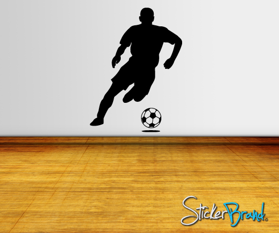 Vinyl Wall Decal Sticker Soccer Football Player Ball | eBay