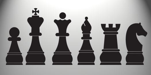 Vinyl Wall Art Decal Sticker Chess Board Set Pieces Custom Smaller Set