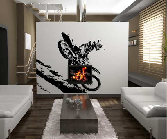 Vinyl wall decal sticker motorcross dirt bike os aa193b for Dirt bike wall mural