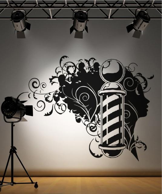 Vinyl Wall Decal Sticker Barbershop Design OSAA594s 47W x